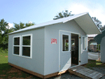 Sunroom portable building for yard, lake or rivercamp.